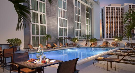Courtyard by Marriott Miami Downtown Brickell Area - Miami - Piscine